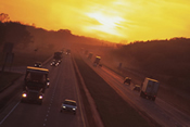 photo: highway during a sunset