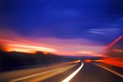 photo: highway at night